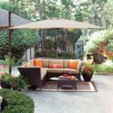 Offset Patio Umbrella, 10 x 10-ft | Canvas | Get the sun protection you want with this stylishly unique Offset Patio Umbrella. Its 360ᵒ rotation and manual tilt ensure that you stay in the shade all day. U
