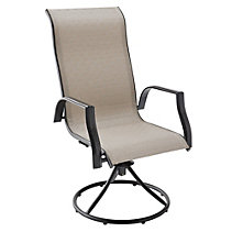 Parsons Collection Sling Swivel Patio Dining Chair