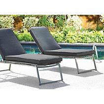 Chaise longue tisse et coussin Umbra Loft