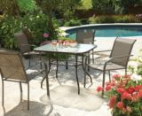 Colton Collection Glass Patio Dining Table, 38x32-in | For Living