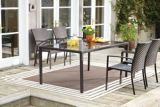 CANVAS Cabana Collection Wicker Glass Patio Dining Table | Canvas