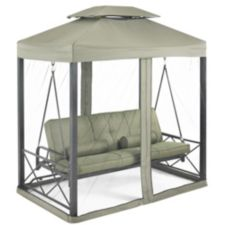 Monterey Collection Day Bed And Swing With Netting Green