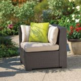 Cabana Collection Wicker Patio Sectional Corner Chair | For Living