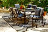 For Living Bluebay Rectangular Tile Patio Dining Table, 41 x 64-in | For Living