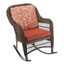 new product ef4dc 8dfe8 CANVAS Catalina Collection Wicker Patio Rocking Chair