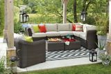 CANVAS Salina Collection Sectional Armless Patio Chair | Canvas