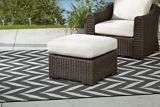 CANVAS Salina Collection Sectional Patio Ottoman | Canvas