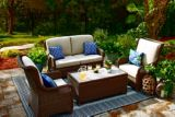 CANVAS Beaumont Patio Loveseat & Storage Table | Canvas