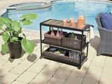 CANVAS Grappa Bar Cart | CANVAS | CANVAS Grappa Bar Cart features a durable metal frame Equipped with handle and wheels to make the cart completely mobile