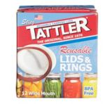 Tattler Reusable Wide Canning Lids & Rings, 12-pk | Tattler