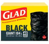 Glad Giant Garbage Bags, 178-L, 40-pk | GLAD