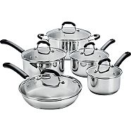 MASTER Chef Stainless Steel Cookware Set, 10-pc