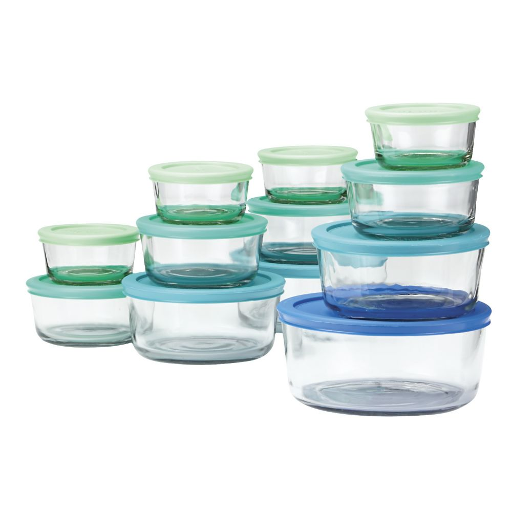 Anchor Glass Food Storage Set, 24-pc
