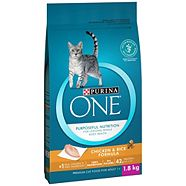 Purina ONE® SmartBlend™ Chicken and Rice Formula Adult Cat Food, 1.8-kg