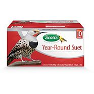 Scotts Year Round Suet Bird Snack, 10-pk