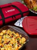 Anchor 4 Piece Glass Bakeware Pack | Anchor Hocking | Be ready for your next party or potluck dinner with the Anchor 4-piece Bakeware Pack. The 3-quart casserole dish is the perfect size for main courses or dessert