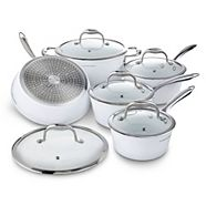 Lagostina Bianco Ceramic Forged Cookware Set, 10-pc