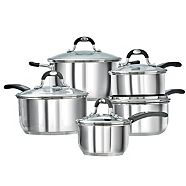Lagostina Casa Mia Stainless Steel Cookware Set, 10-pc