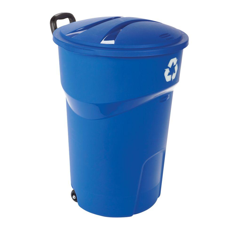 Rubbermaid Recycling Bin, 121-L