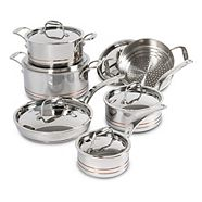 Lagostina 5-ply Copper-Clad Cookware Set, 12-pc