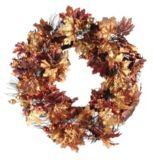 Fall Harvest Maple and Berry Wreath |
