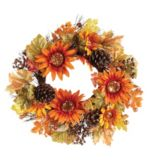 Fall Harvest Glitter Sunflower Wreath |