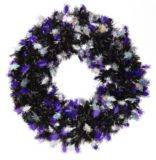 Halloween Tinsel Wreath, 20-in, Assorted | Holiday Collection