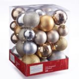 CANVAS Silver Ball Ornament Set, Assorted, 46-pk | Holiday Collection