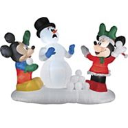 Boule à neige Mickey & Minnie gonflables Airblown