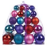 Holiday Collections Brights Stacked Gift Ball Ornament Set, Assorted, 40-pk | Holiday Collection