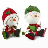 Snowman Big Head Skater Character | Holiday Collection