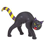 Chat noir d'Halloween gonflable, 6 pi