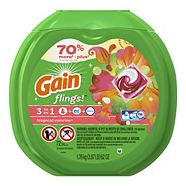 Gain Flings Laundry Detergent Pods, Tropical Sunrise, 72-pk