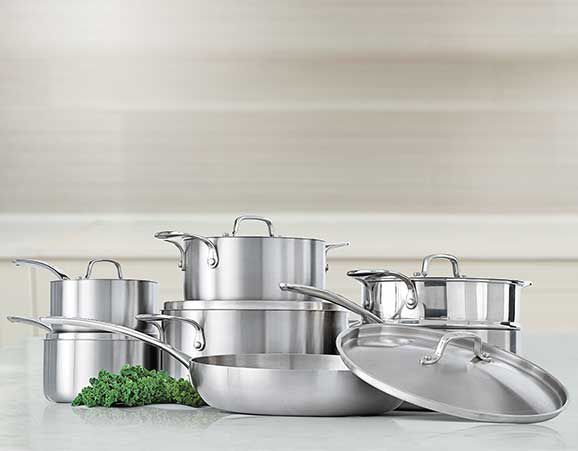 Lagostina 3-Ply Commercial Clad Cookware Set, 13-pc