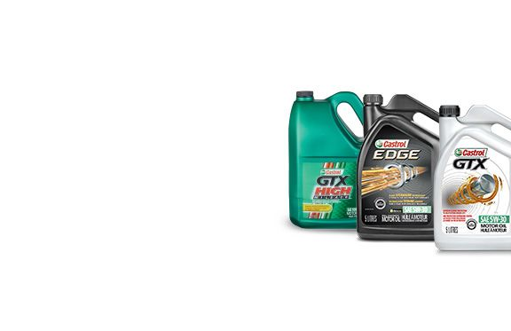 Castrol Edge Synthetic, Extended Performance Synthetic, GTX Conventional or High Mileage