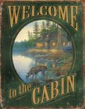 Plaque métal Wild Wings Welcome To The Cabin | Wild Wings | Canadian Tire