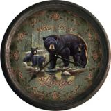 Horloge murale nostalgique, Black Bear Lodge, 15 po