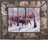 Framed Birch Bark Deer Print, 24 x 28-in