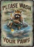 Rivers Edge Please Wash Your Paws Tin Sign   RIVERS EDGE   Canadian Tire
