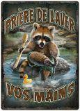 Rivers Edge Priere de Laver Vos Mains Tin Sign | RIVERS EDGE | Canadian Tire