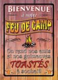 Rivers Edge Bienvenue Feu de Camp Tin Sign | RIVERS EDGE | Canadian Tire
