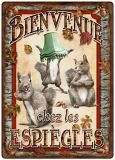 Rivers Edge Bienvenue Chew Les Espiegles Tin Sign | RIVERS EDGE | Canadian Tire