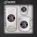 Toronto Raptors Shot Glass/Mug/Beer Stein Fan Set, 3-pc | The Sports Vault Corp. | Canadian Tire