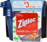 Ziploc® Holiday Medium Square Container, 4-pk | Ziploc | Canadian Tire