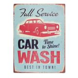 Car Wash Tin Sign