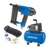 Mastercraft 3 Gallon Air Compressor with Brad Nailer | Mastercraft