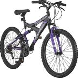 "Supercycle Nitrous Girls' 24"" Full Suspension Mountain Bike 