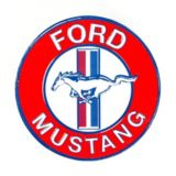 Metal Round Ford Mustang Sign | Mustang | Canadian Tire