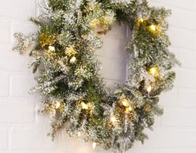 Canvas Pre-Lit Christmas Wreathes & Garlands