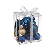 CANVAS Blue Mini Ornament Set Assorted 15-pk